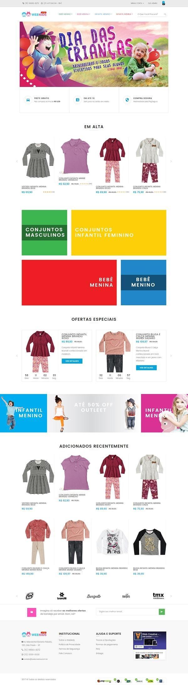 Webkids E-commerce Theme