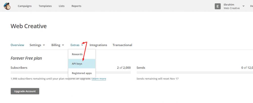 Integração Mailchimp via API PHP [AJAX]