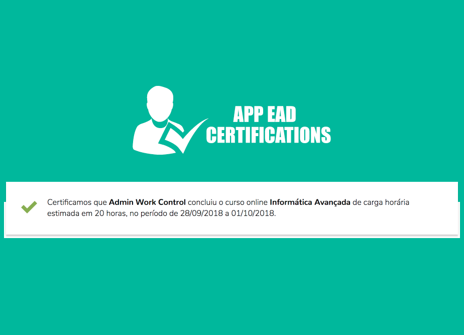 APP EAD Certifications